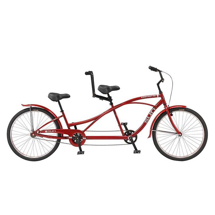 If you're ready to hit the beach in style for a weekend ride then this bike for two is right for you. Cruising the beach walk and boulevards is a pleasure on this retro styled tandem. Comfort is the goal here.